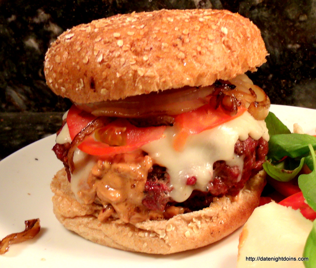 Peanut Butter Stuffed Burger Date Night Doins