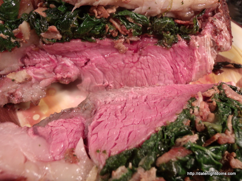 Spinach Stuffed Rib Roast Pellet Grill Recipe
