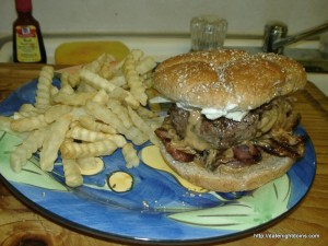 Nutty Buddy Bacon Cheeseburger pellet grill recipe