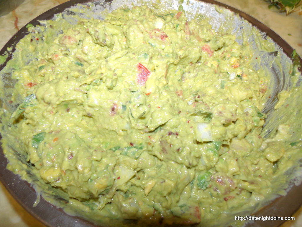 Guacamole with Roasted Garlic - Date Night Doins BBQ For Two