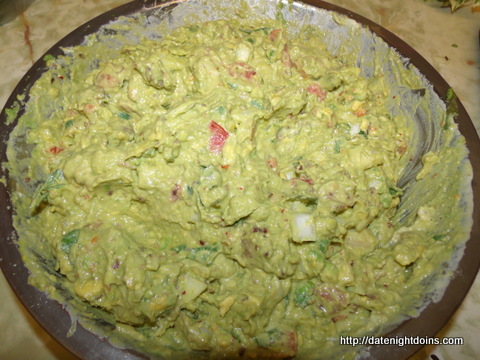 Guacamole with Roasted Garlic pellet grill BBQ smoker recipe