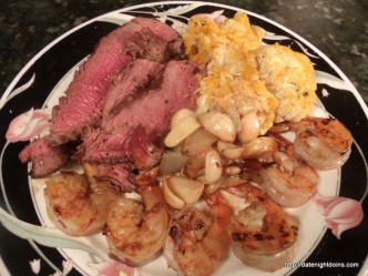 Date Night Surf and Turf pellet grill BBQ smoker recipe