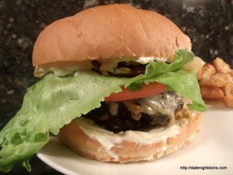 Double Stacked Stuffed Burgers pellet grill BBQ smoker recipe