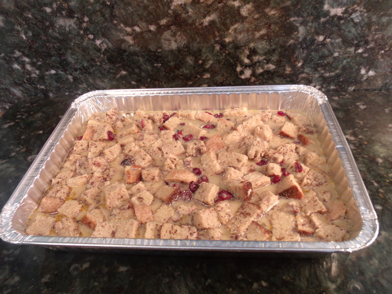 Cranberry Pecan Bread Pudding pellet grill recipe BBQ smoker date night doins