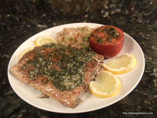 Lemon Dill Grilled Salmon Date Night Doins Bbq For Two