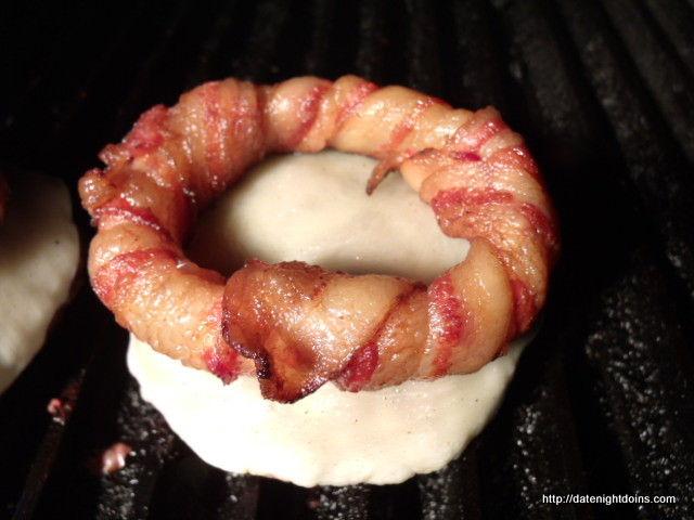 Bacon Ring Burger pellet grill recipe BBQ smoker