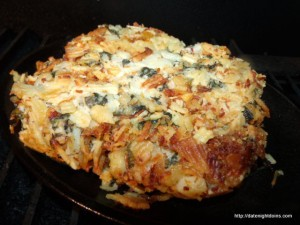Easy Cheesy Potatoes with Spinach