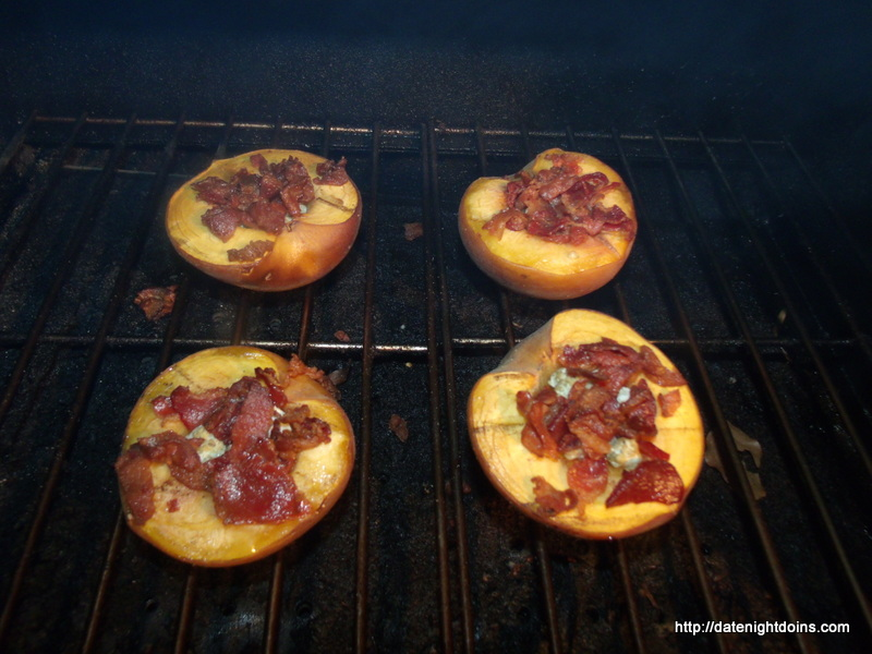 Barbeque recipe, Grilled Stuffed Peaches, Grill Grate, Maverick, How To BBQ, Ken Patti BBQ, Pellet Cooking, Bull Racks, Date Night Butt Rub, Date Night Recipe,