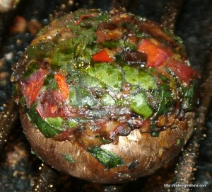 Smoked Sausage Stuffed Portobello's
