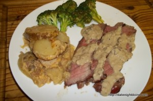 London Broil with Bacon Gravy