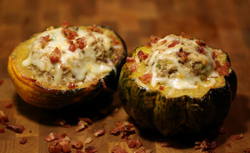 "CHEF G's ""UNSCRIPTED"" STUFFED ACORN SQUASH"