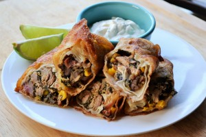 Smoked Pork Southwest Eggrolls