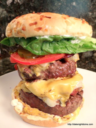 Ultimate Burger Stack, wood pellet, grill, BBQ, smoker, recipe