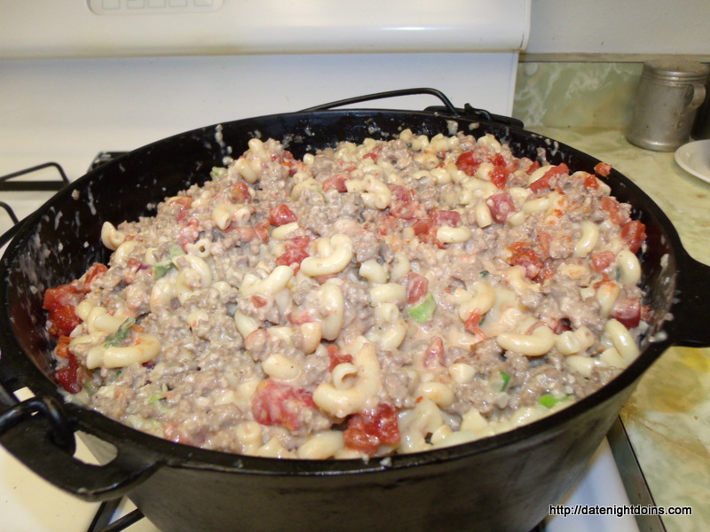 Potluck Cheeseburger Mac, wood pellet grill, recipe
