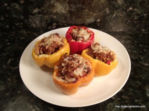 Hot & Saucy Stuffed Sweet Peppers