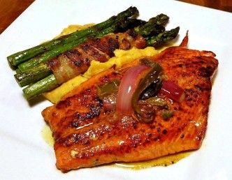 G's SEARED SOCKEYE SALMON