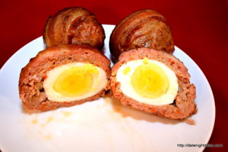 Scotch Eggs Go Tailgating, wood pellet, grill, BBQ, smoker, recipe