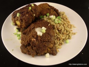 Curried Chicken Thighs with Fried Rice