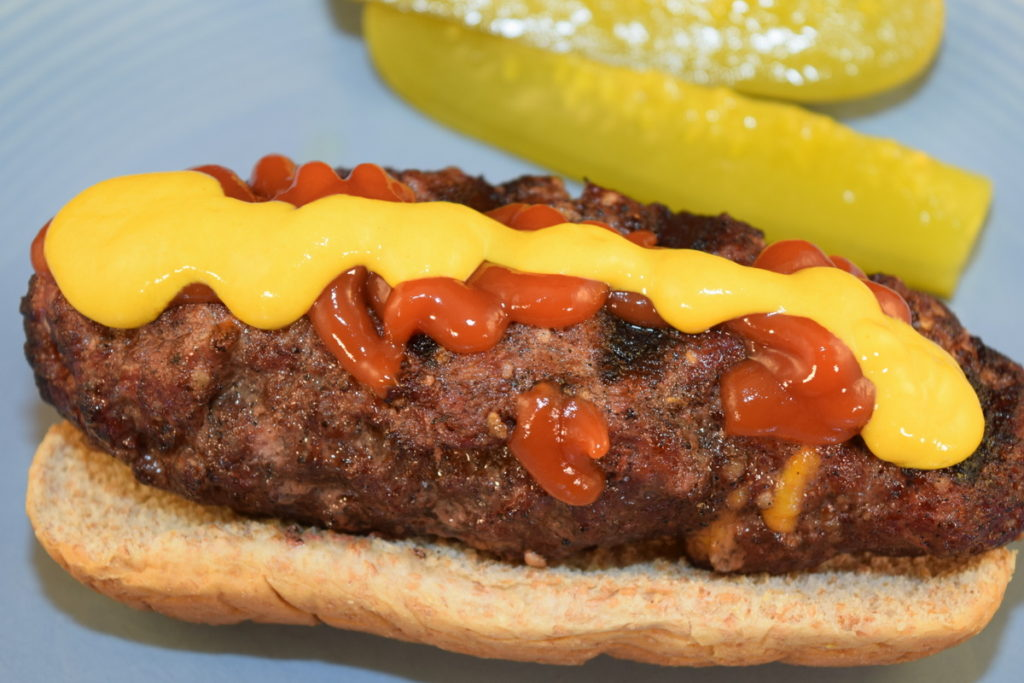 Stuffed Burger Dogs - Date Night Doins BBQ For Two