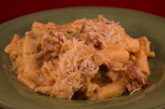 Italian Sausage Mac & Cheese, wood pellet, Grill, BBQ, smoker, recipe