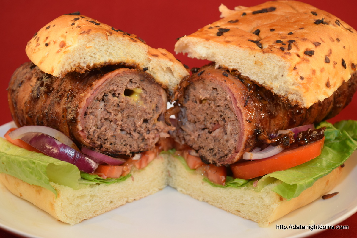 Bacon Wrapped Stuffed Burger Dogs Our 500th Recipe, wood pellet grill, BBQ, smoker, recipe