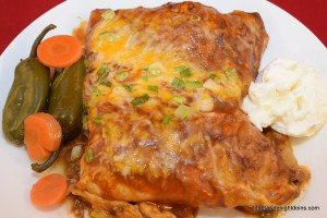 Smoked Shredded Beef Enchiladas