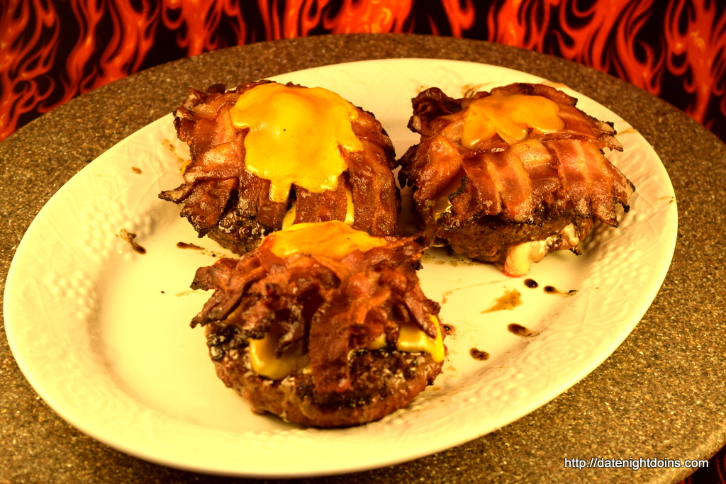 Stuffed Double Cheese Bacon Burgers, wood pellet, grill, recipe, BBQ, smoker
