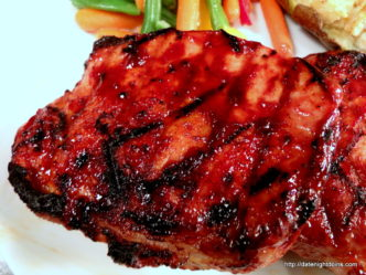 BBQ Pork Loin Chops, wood pellet, grill, BBQ, smoker, recipe