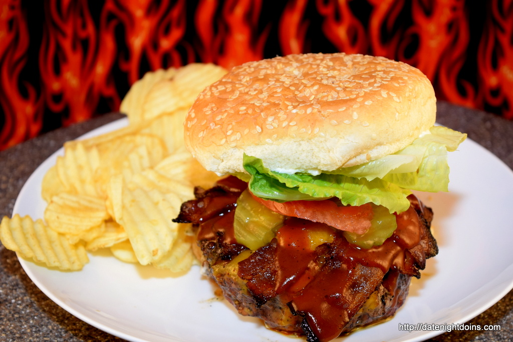 Stuffed Double Cheese Bacon Burgers, wood pellet, grill, BBQ, smoker, recipe