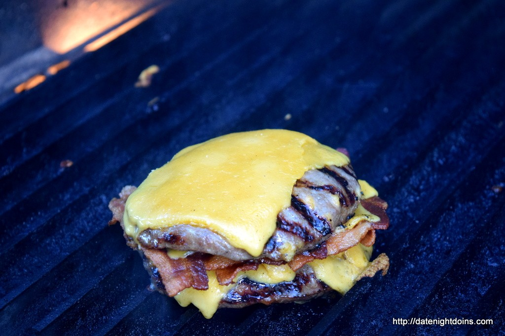 Grill Master Cheddar Cheese Bacon Burger