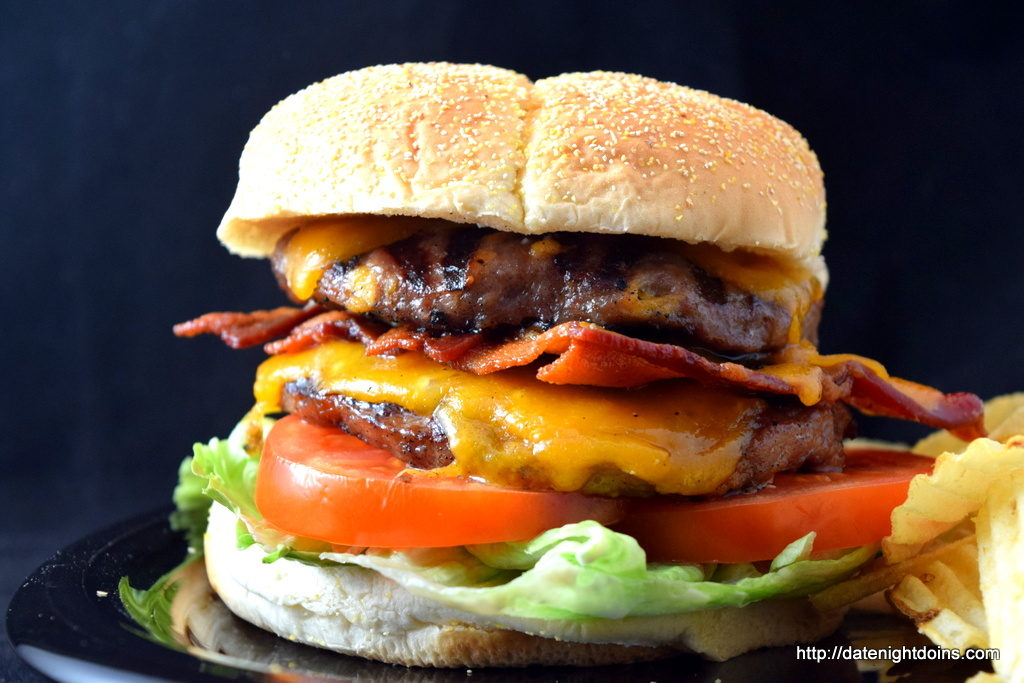 Grill Master Cheddar Cheese, Bacon Burger