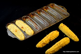 Bacon Cornbread Sticks, wood pellet grill, BBQ, smoker, recipe