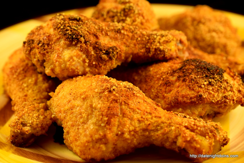 Parmesan Crusted Chicken Drumsticks Date Night Doins