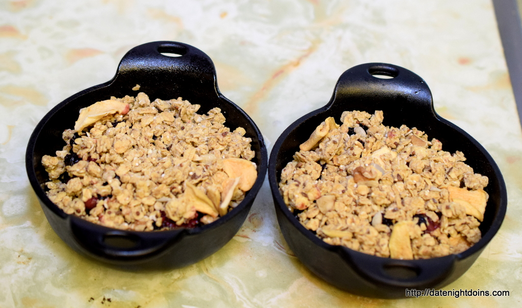 Easy Berry Crisp, for Two, BBQ, grill, oven, recipe