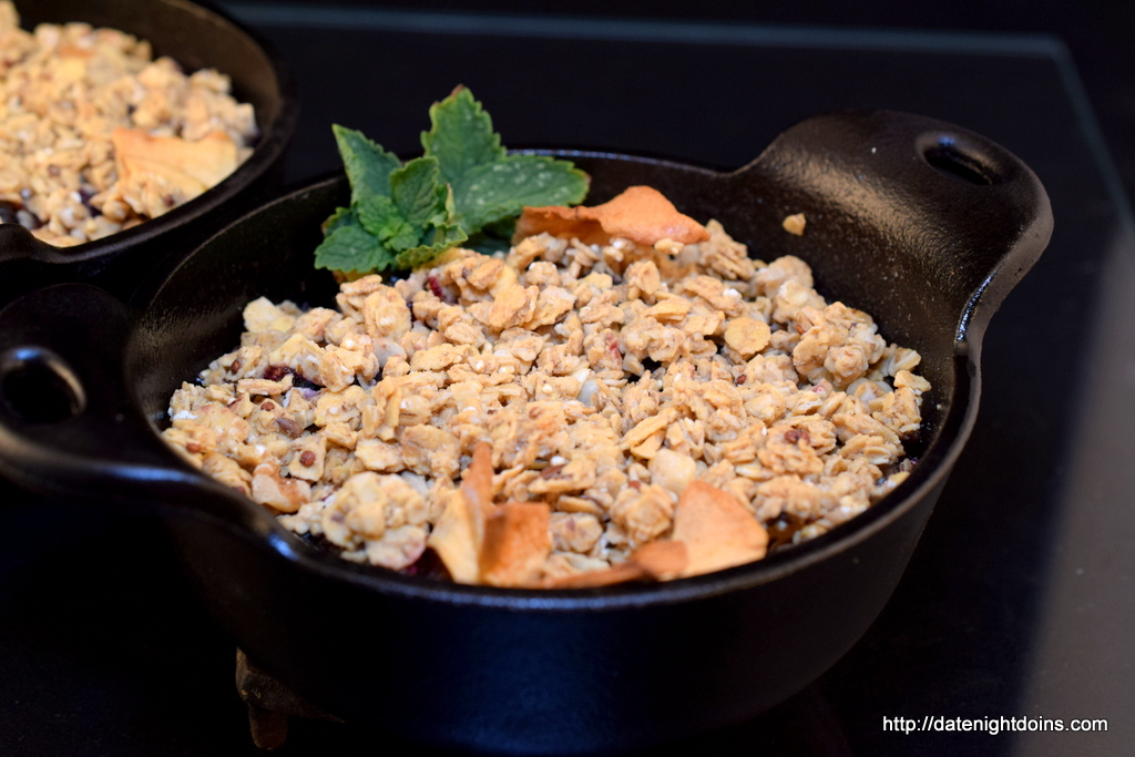 Easy Berry Crisp for Two - Date Night Doins BBQ For Two