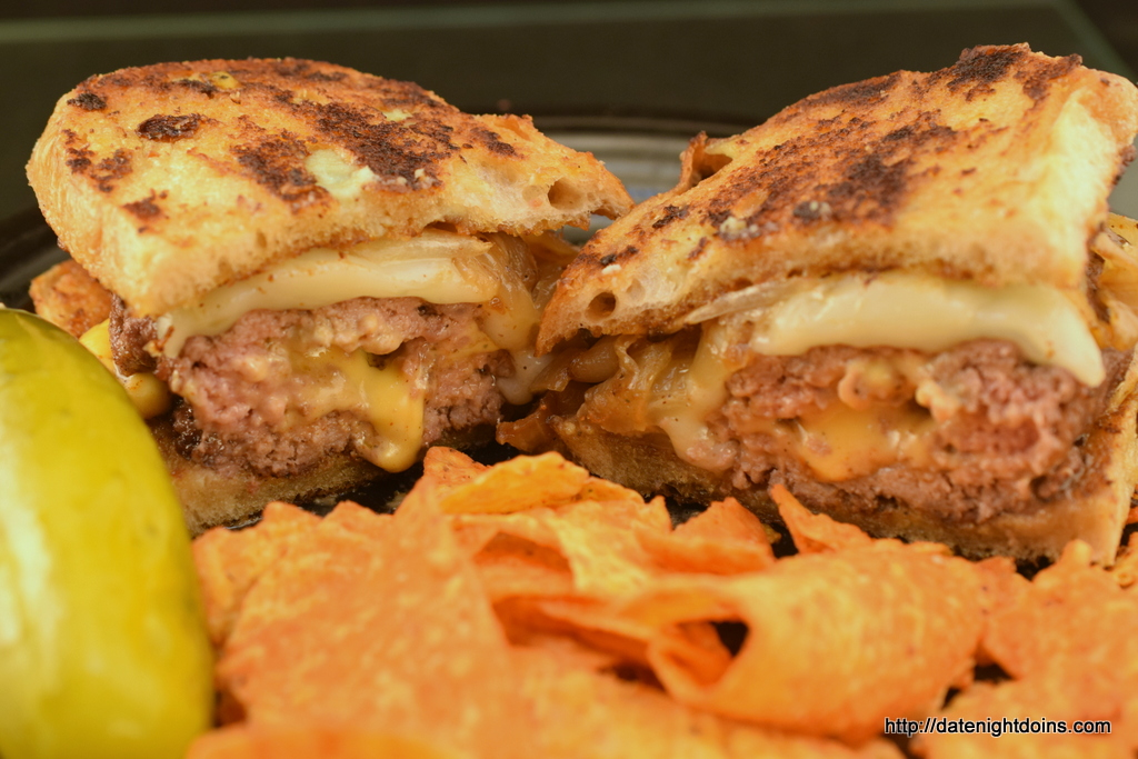 Garlicky, Stuffed Patty Melts, wood pellet, grill,BBQ, smoker, recipe