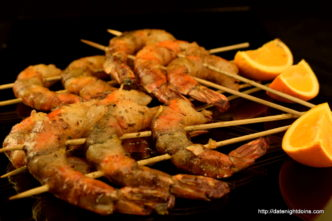 Orange Ginger Shrimp, wood pellet, grill, BBQ, smoker, recipe