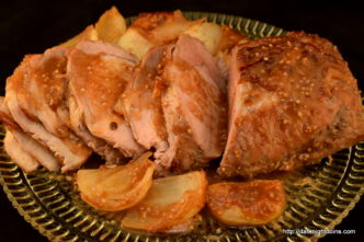 Cranberry Apple, Pork Loin, wood pellet, grill, BBQ, smoker, recipe