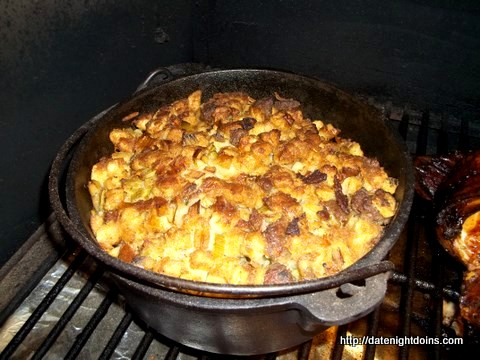 Smoked Sausage Stuffing,Grill Grate, Maverick, How To BBQ, Ken Patti BBQ, Pellet Cooking, Bull Racks, Date Night Butt Rub, Date Night Recipe, Pellet Grill Recipe, BBQ recipe, Barbeque recipe, smoker recipe, BBQ Grilling recipes, wood pellet grill, wood pellet grill recipe, Wedgie, Green Mountain Grills