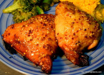 Garlic Honey Chicken Thighs, How to BBQ, Grill, Smoke, recipe, pellet smoking, Ken Patti BBQ