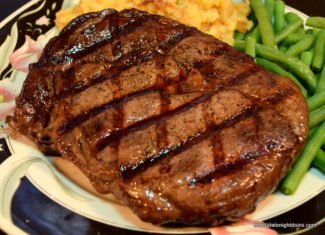 Raider Red Prime Rib Eye Steaks