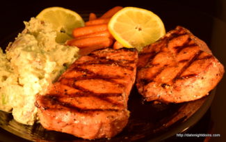 Smoked Pork Chops with Maple Pepper Glaze