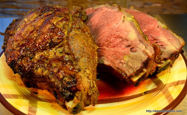 Horsey Mustard Rib Roast, sauce, pellet grill, smoker, BBQ, recipe, How to BBQ, Ken Patti BBQ, Date Night recipe, Sawtooth pellet grill