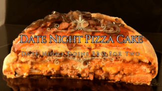 Video Date Night Pizza Cake