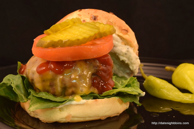 Garlic Lovers Burger - Date Night Doins BBQ For Two
