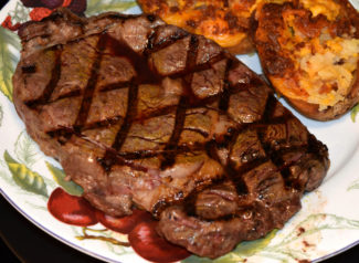 Simple Grilled Rib Eye Steak