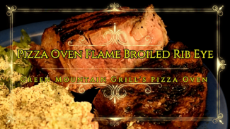 Video Pizza Oven Flame Broiled Rib Eye