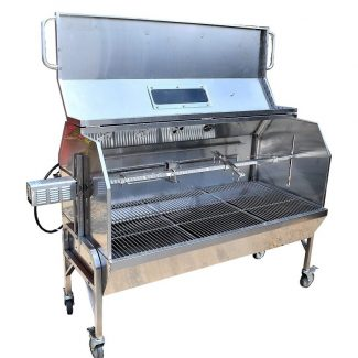 59″ Stainless Steel Propane Gas/Charcoal Spit Rotisserie
