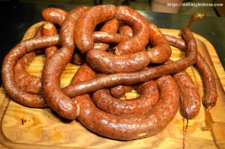Homemade German Knackwurst