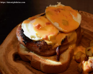 Queso Pork Chop Breakfast